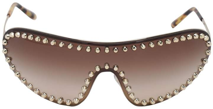 Prada STUDDED MASK METAL SUNGLASSES