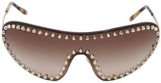 Prada Studded Mask Metal Sunglasses