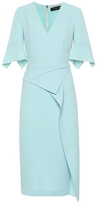 Roland Mouret Marengo wool-crepe midi dress