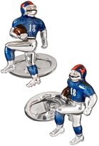 Jan Leslie Sterling Silver Moving Football Player Cufflinks