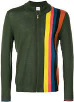 Paul Smith stripe detail zip cardigan