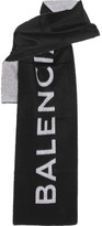 Balenciaga Cashmere And Wool-blend Scarf - Black