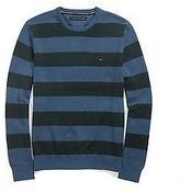 Tommy Hilfiger Men's Stripe Crew Neck Sweater