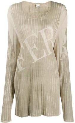 Gianfranco Ferré Pre Owned 1990s long-line logo-print T-shirt