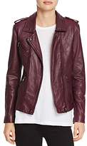 Rebecca Taylor Washed-Leather Biker Jacket
