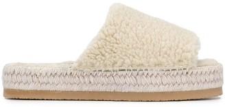 MM6 MAISON MARGIELA Fluffy Espadrille Flatform Sandals