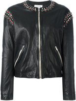Etoile Isabel Marant Buddy jacket - women - Calf Leather/Polyester/Zinc/Brass - 36