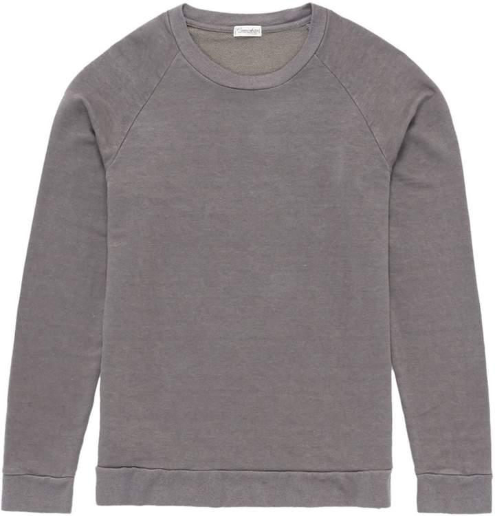 Camoshita Raglan sleeve linen-cotton sweatshirt
