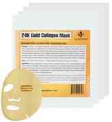 24K Gold Collagen Facial Mask (4 PK)