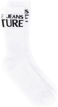 Versace contrast logo socks