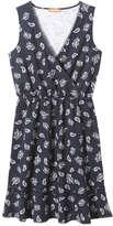 Joe Fresh Women's Print Wrap Front Dress, Midnight Blue (Size L)
