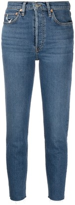 RE/DONE Cropped Slim-Fit Jeans