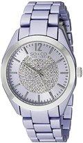 SO&CO New York Women's 5096A.2 SoHo Quartz Crystal Dial Oversized Purple Link Bracelet Watch