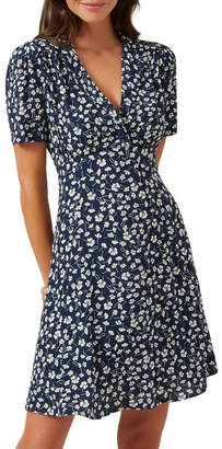 French Connection Floral Mini Tea Dress