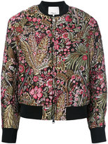3.1 Phillip Lim floral cropped bomber jacket - women - Silk/Polyamide/Polyester/viscose - 2