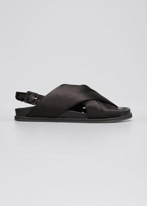 Simone Rocha Satin Crisscross Slide Sandals