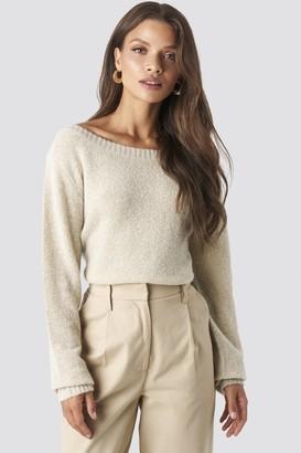 BEIGE Tina Maria X NA-KD Boat Neck Knitted Sweater