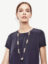 Ann Taylor Pearlized Bubble Chain Necklace
