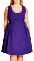 City Chic Plus Size Women's Corset Side Fit & Flare Dress