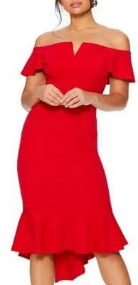 Quiz Off-the-Shoulder Sheath Dress