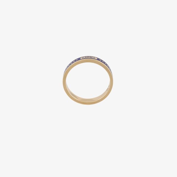 Foundrae 18K yellow gold Karma thin band ring