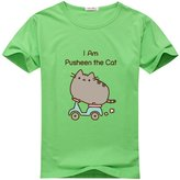 I Am Pusheen The Cat Kids Boys' and Girls' Cool Logo Graphic Cotton Tee Shirt Smalll 8-10T