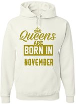 Tee Hunt Queens Are Born In November Hoodie Funny Birthday 2XL