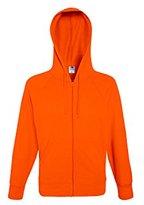Fruit of the Loom Men's Lightweight Hooded Sweat Jacket Sports Hoodie