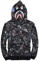 CLJJ7 Men's Shark Printed Hooded Sweatshirt