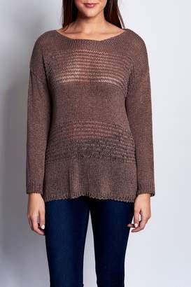 B&K Moda L/s Scoop Neck Pullover