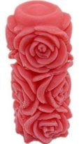 Allforhome Silicone Stereo Roses Cylindrical Candle Moulds Soap Cake Decorating Mold Moule Bougie