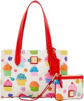 Dooney & Bourke Cupcakes Sm Shopper & Med Wristlet