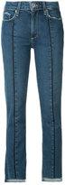 Paige raw hem cropped jeans - women - Cotton/Polyester/Spandex/Elastane - 23