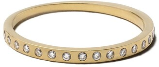 White Bird 18kt yellow gold diamond Jen ring