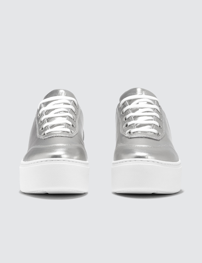 Thumbnail for your product : Joshua Sanders Silver Liberty Trainers