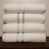 Lenox Pearl Essence 3 Piece Towel Set / White-Gray