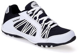 White & Black Mesh Sneaker - Women