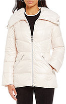 KARL LAGERFELD PARIS Karl Lagerfeld Paris Spread Collar Hooded Light Weight Down Puffer