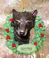 "Kurt Adler 3"" Field & Stream Black Bear In Wreath Christmas Ornament"