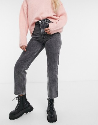 And other stories & Keeper organic cotton straight cropped jeans in grey