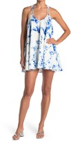 Thumbnail for your product : Lucy Paris Water Print Strappy Swing Dress