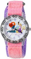 Disney Girl's 'Rapunzel' Quartz Plastic and Nylon Automatic Watch, Color:Pink (Model: W002952)