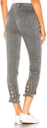 Chaser Lace Up Pant with Frayed Edge