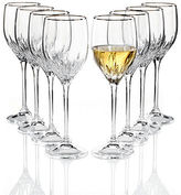Vera Wang Wedgwood Set of 8 Duchesse Platinum Wine Glasses