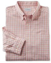 L.L. Bean Wrinkle-Free Vacationland Shirt, Slim Fit Long-Sleeve Plaid