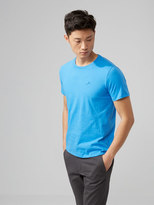 Frank and Oak The Made in Canada Signature T-Shirt in Bright Blue