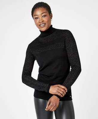 Sweaty Betty Alpine Glitter Merino Turtleneck Jumper