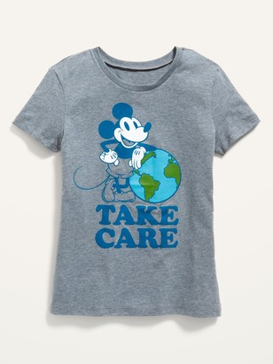 Old Navy Disney Mickey Mouse Earth Day Matching Graphic Tee for Girls