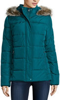 ST. JOHN'S BAY St. Johns Bay Faux-Fur Trim Puffer Coat - Tall