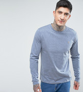Farah Long Sleeve Marl T-shirt In Spruce Green